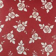 Papel Relux Decorado Rosas Rubi 180g 30,5 x30,5cm