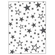 Placa para Relevo 2D Estrelas 127 x 177mm