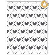 Placa para Relevo 2D Mini Corações 75 x 127mm