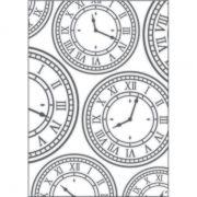 Placa para Relevo 2D Relógio Vintage 127 x 177mm