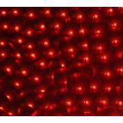 Placa de EVA Metálico Círculo Vermelho 3D