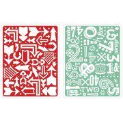 Placa de Textura - Embossing Folder - Arrows & Numbers Set by Lori Whitlock