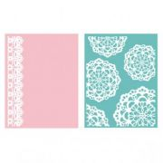 Placa de Textura - LC Embossing Folder Doily