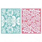 Placa de Textura - LC Embossing Folder Floral
