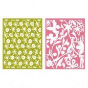 Placa de Textura - LC Embossing Folder Floret
