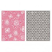 Placa de Textura - LC Embossing Folder Flower Pat