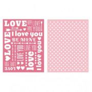 Placa de Textura - LC Embossing Folder Sweetheart