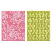 Placa de Textura - LC Embossing Folder Tea Party