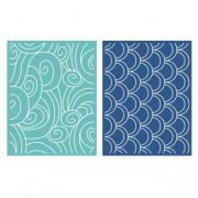 Placa de Textura - LC Embossing Folder Tide
