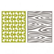 Placa de Textura - LC Embossing Folder Wdland