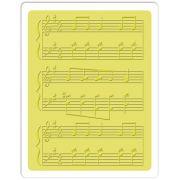 Placa de Textura - Embossing Folder - Notas Musicais