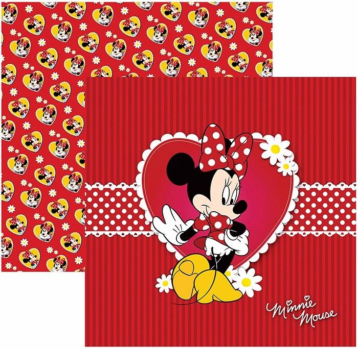 Folha para ScrapFesta Dupla-face Disney - Minnie Mouse 1 Guirlanda  - Minas Midias