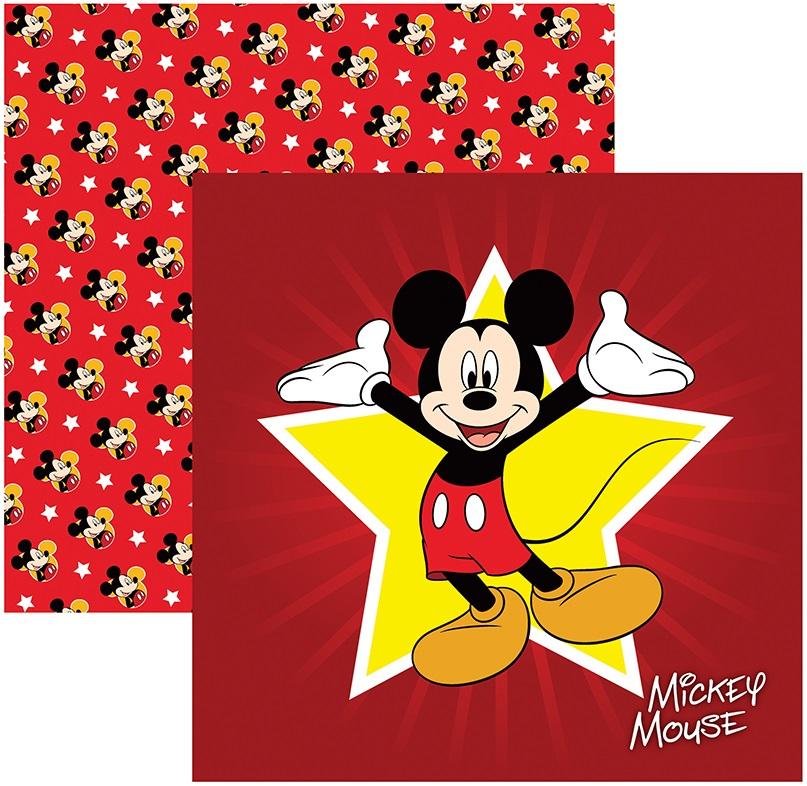 Folha para ScrapFesta Dupla-face Disney - Mickey Mouse 1 Guirlanda  - Minas Midias
