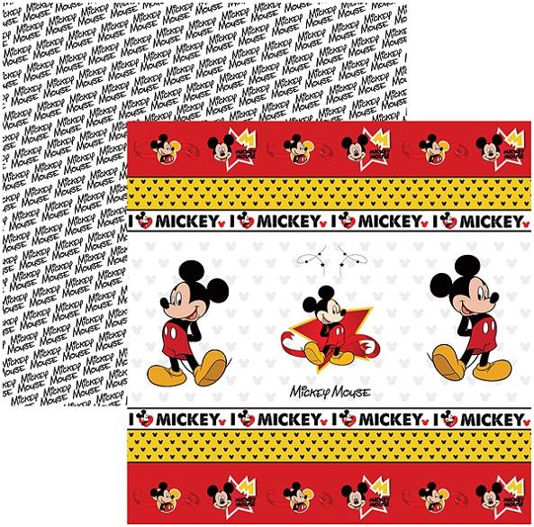 Folha para ScrapFesta Dupla-face Disney - Mickey Mouse 1 Fitas e Rótulos  - Minas Midias