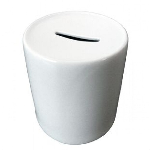 Cofrinho Branco de Porcelana p/ Sublimação  - Minas Midias