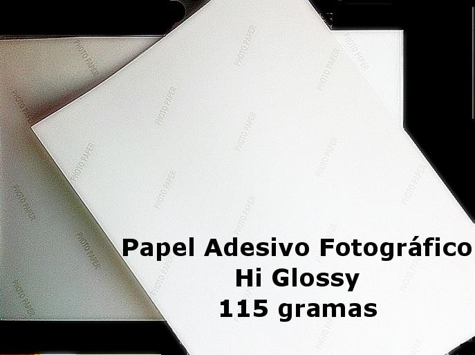 Papel Fotográfico A3 Glossy Adesivo 115g  - Minas Midias