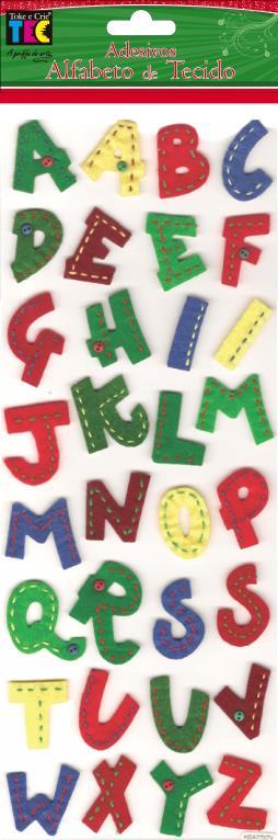 Adesivo Alfabeto de Tecido  - Minas Midias