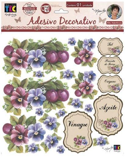 Adesivo Decorativo Amor Perfeito by Mamiko  - Minas Midias