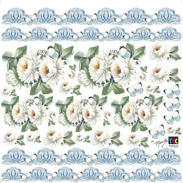 Adesivo Decorativo Crisantemos Branco by Mamiko  - Minas Midias