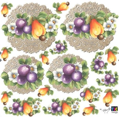 Adesivo Decorativo Frutas by Mamiko  - Minas Midias