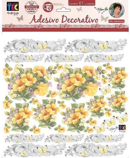 Adesivo Decorativo Hibiscos Amarelo by Mamiko  - Minas Midias