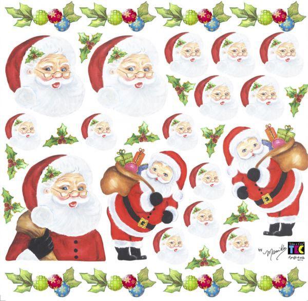 Adesivo Decorativo Papai Noel by Mamiko  - Minas Midias