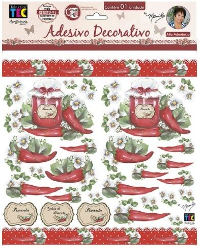 Adesivo Decorativo Pimenta e Rótulos by Mamiko  - Minas Midias