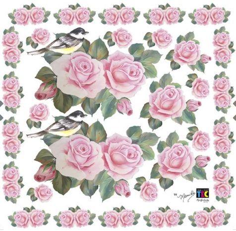 Adesivo Decorativo Rosas by Mamiko  - Minas Midias