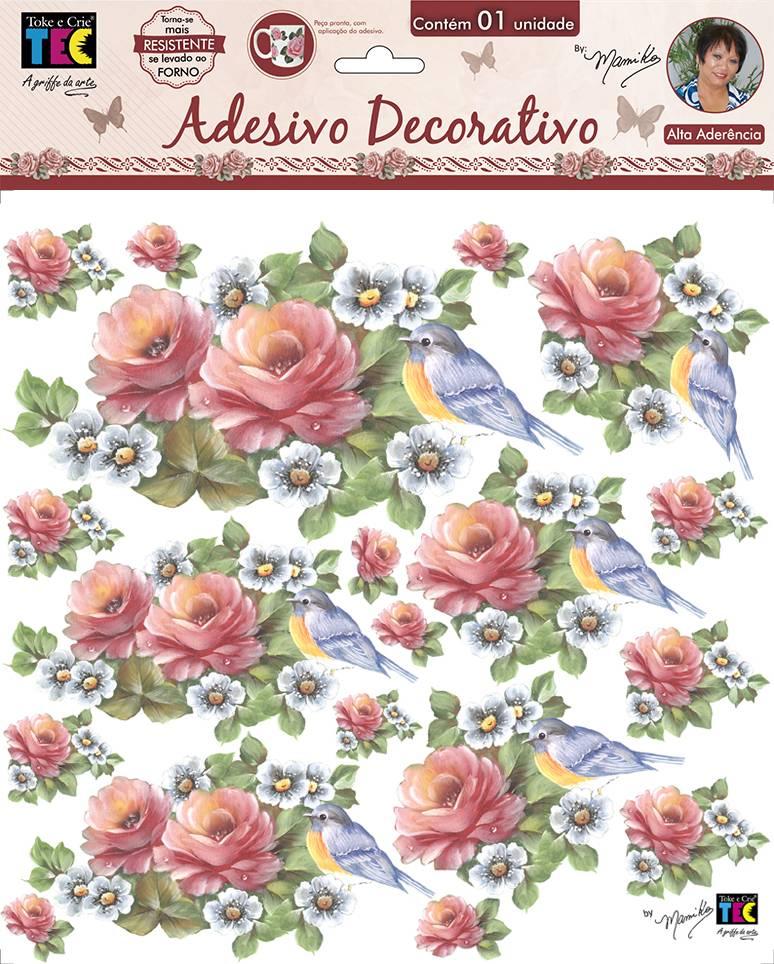 Adesivo Decorativo Rosas Delicadas by Mamiko  - Minas Midias