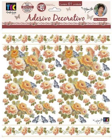 Adesivo Decorativo Rosas Laranja by Mamiko  - Minas Midias
