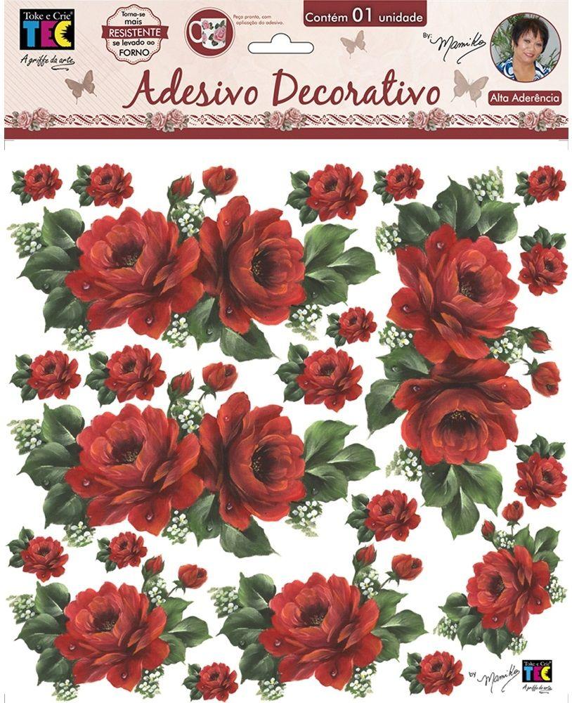 Adesivo Decorativo Rosas Vermelhas by Mamiko  - Minas Midias
