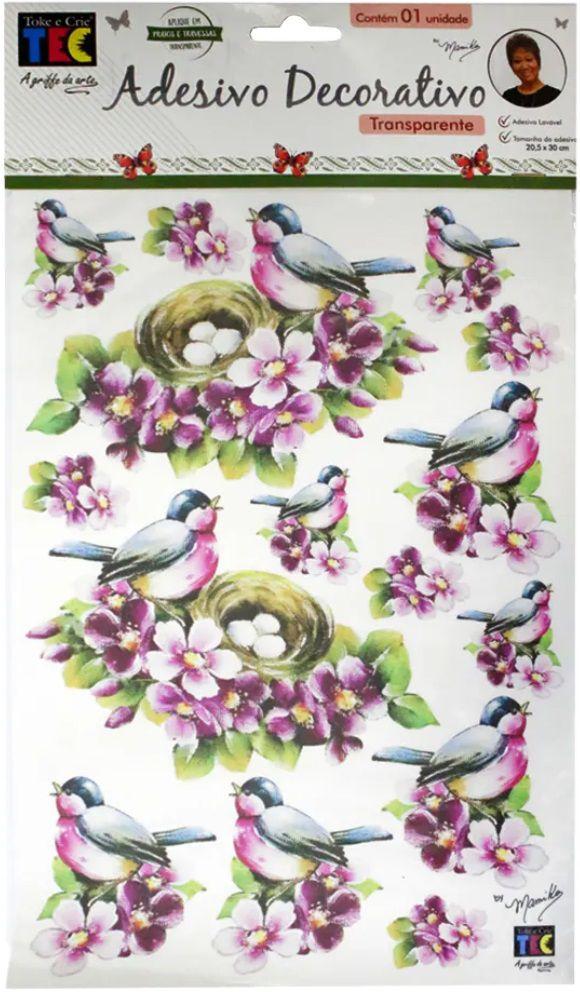 Adesivo Decorativo Transparente Pássaro com Ninho by Mamiko  - Minas Midias
