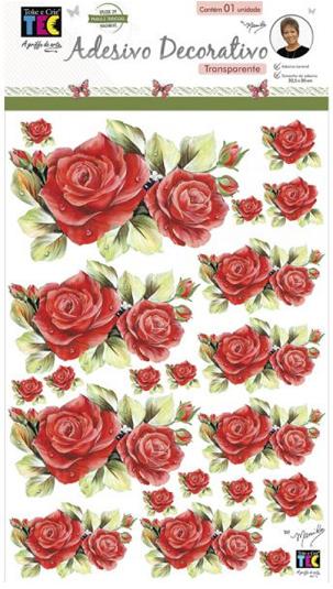 Adesivo Decorativo Transparente Rosas Colombianas by Mamiko  - Minas Midias