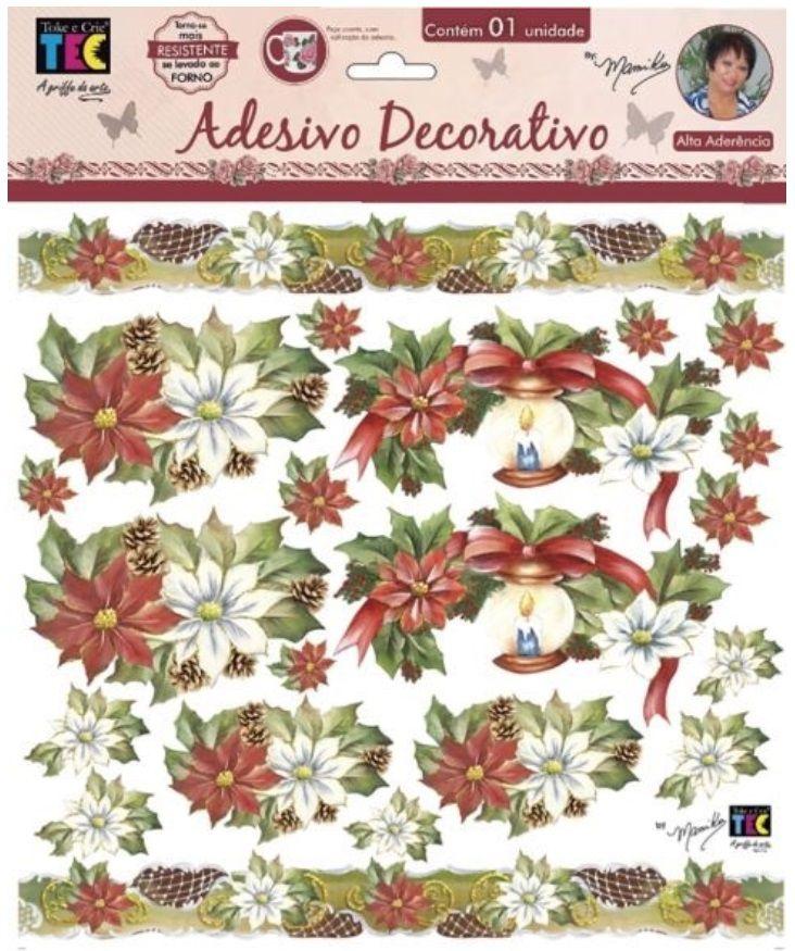 Adesivo Decorativo Velas e Azevinhos by Mamiko  - Minas Midias