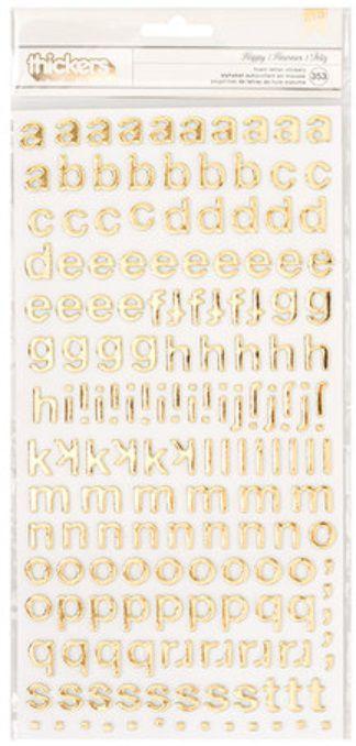 Adesivo Thickers EVA Alfabeto Foil Ouro (Thickers Stickers)  - Minas Midias