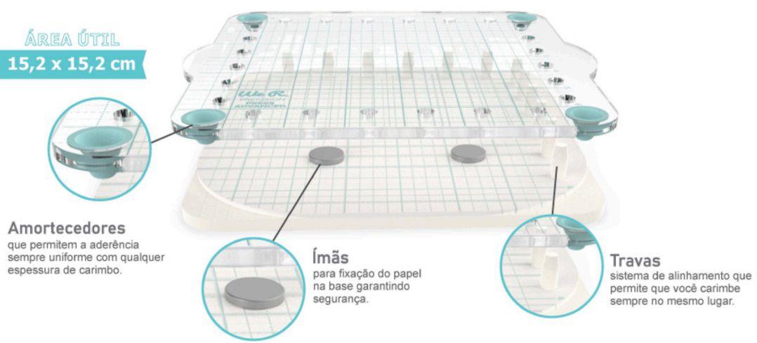 Base de Precisão Avançada para Carimbos  - Minas Midias