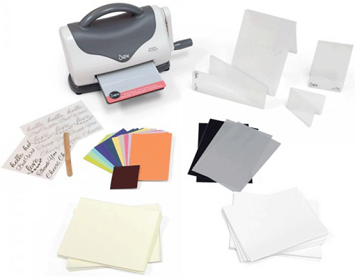 Sizzix Texture Boutique Embossing Machine - Kit Inicial  - Minas Midias