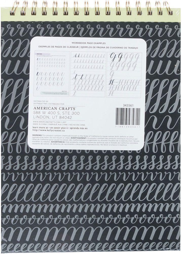 Caderno de Caligrafia Letras Grossas Kelly Creates AC  - Minas Midias
