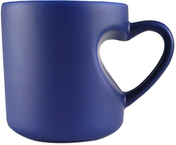 Caneca Mágica de Coração Azul de Porcelana p/ Sublimação   - Minas Midias
