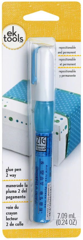 Caneta Cola Ponta Fina - Glue Pen 2way  - Minas Midias
