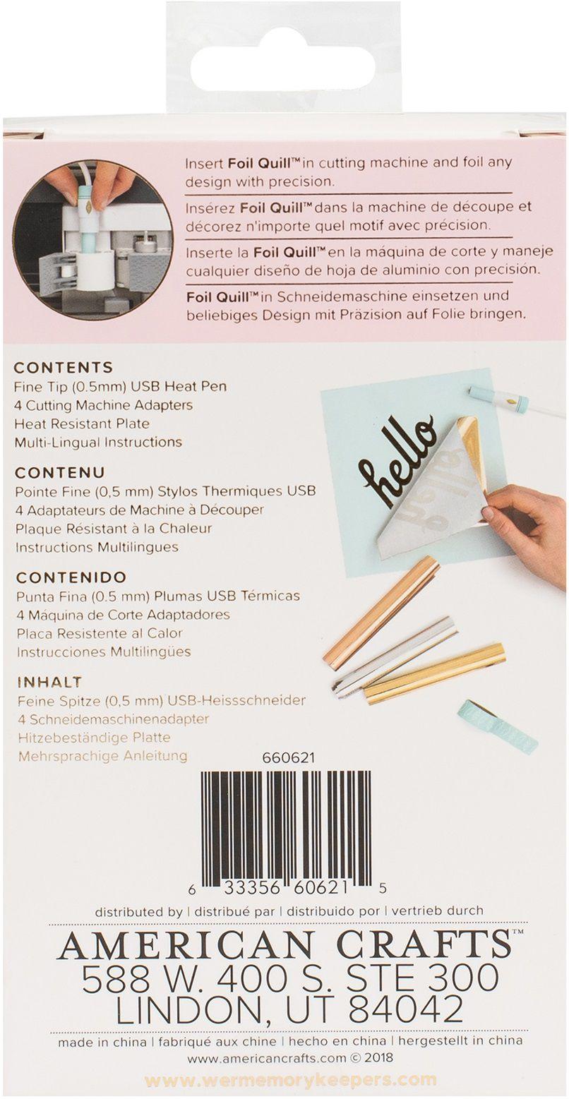 Caneta Transmissora de Foil Ponta Fina 0,5 mm - Foil Quill Fine Tip Pen WeR  - Minas Midias
