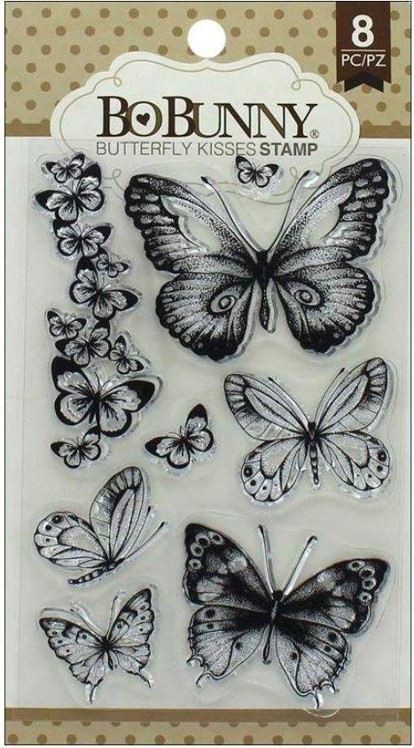Carimbo Borboletas - Butterfly Kisses Stamp Bo Bunny  - Minas Midias