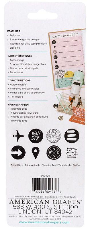 Carimbo com Tinta e Desenhos Diversos - Interchangeable Stamps  - Minas Midias