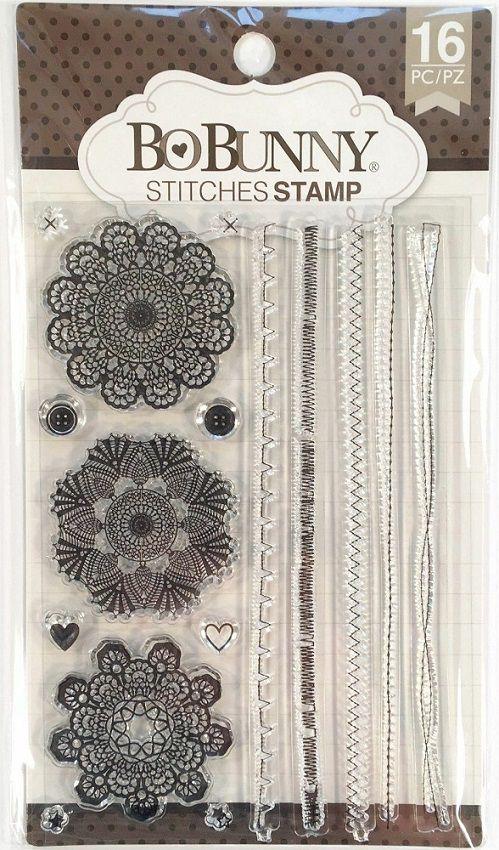 Carimbo Mandalas - Stitches Stamp Bo Bunny  - Minas Midias