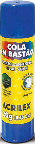 Cola em Bastão 20g Acrilex  - Minas Midias