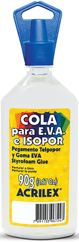 Cola para EVA e Isopor 90g Acrilex  - Minas Midias