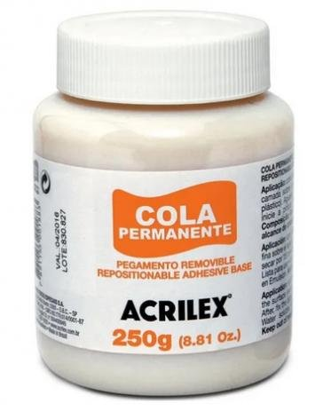 Cola Permanente 250g Acrilex  - Minas Midias