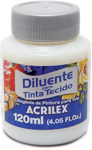 Diluente para Tinta de Tecido 120ml Acrilex  - Minas Midias