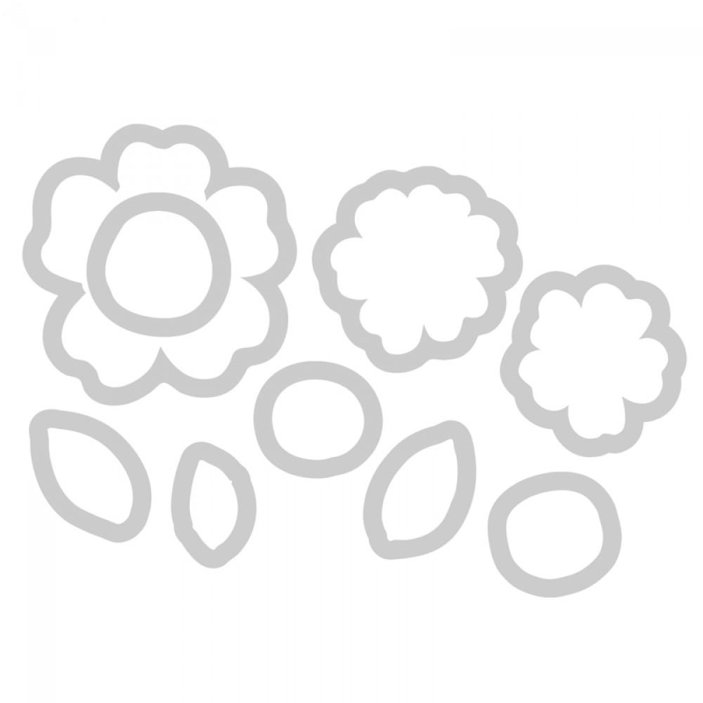Carimbo e Faca Sizzix - Flowers #5  - Minas Midias