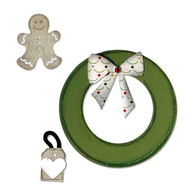 Faca de Corte Sizzix Wreath & Gingerbread Man  - Minas Midias